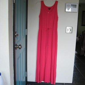 Gap size large, pink maxi dress